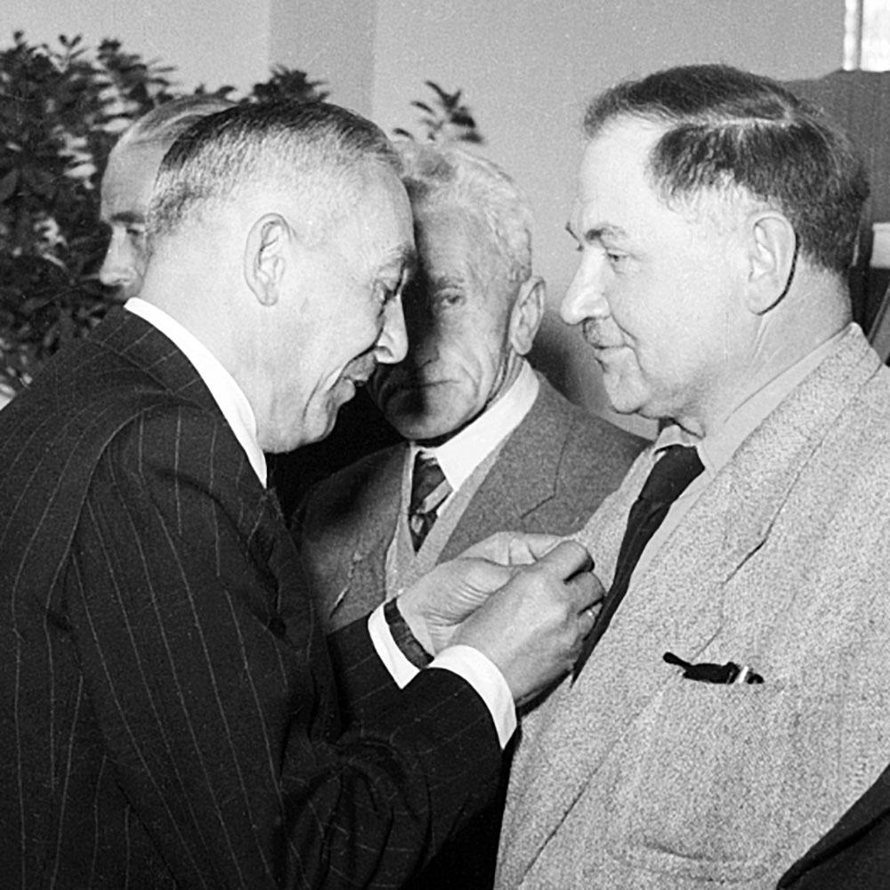 Kazimierz Lelewicz (po prawej)